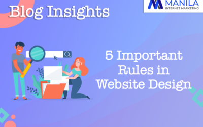 5 Important Rules in Website Design